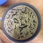 hand made bowl created by a guest at Eastnor Pottery's weekend pottery course