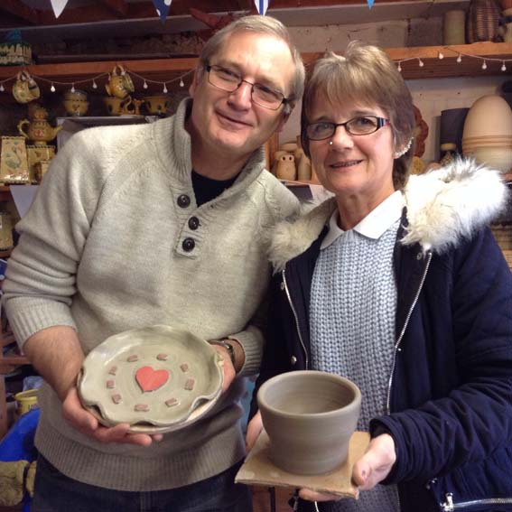 Surprise visit to Eastnor Pottery celebrating 9th Wedding Anniversary
