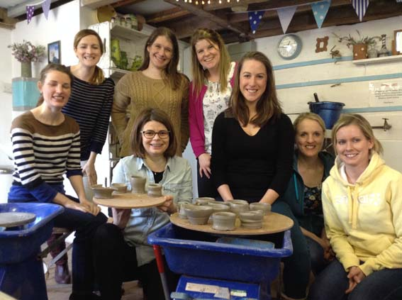 Creative Hen Party at Eastnor Pottery