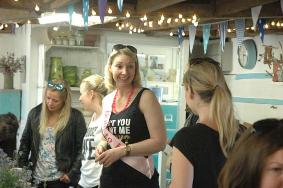 Bride to be very pleased with her pottery hen party at Eastnor Pottery