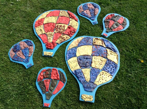 Eastnor Pottery made Hot Air Balloons with Holland House Infant School