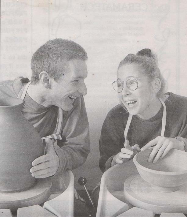 Celebrating 40 years of The Prince's Youth Business Trust Jon Williams and Sarah Monk Throwing Together Circa 1995