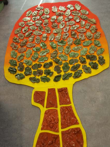 Redditch Primary School works with Eastnor Pottery and Flying Potter to produce Ceramic Tile Panel