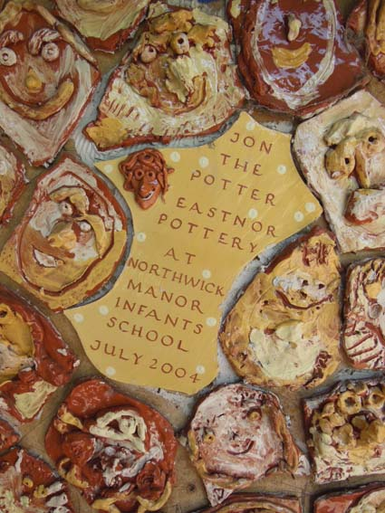 Eastnor Pottery's Previous Tile Panel made at Northwick Manor Infants School