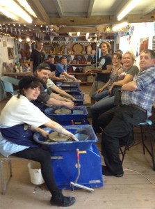 Teambuilding exercises at Eastnor Pottery with Artrix Theatre