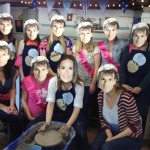 Demi and Patrick(s) at Pottery themed Hen Party at EP Central