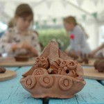 Pottery birthday party at Eastnor Pottery with Owl and Pussycat theme