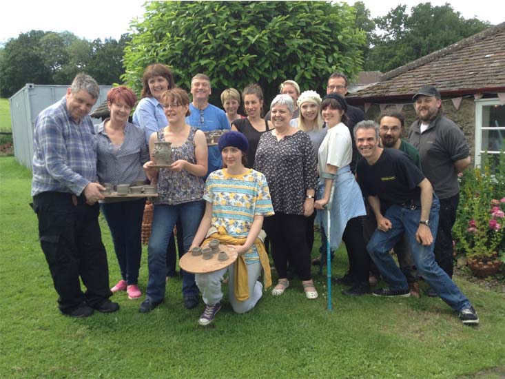 Artrix Theatre working with Eastnor Pottery for a day of teambuilding activities