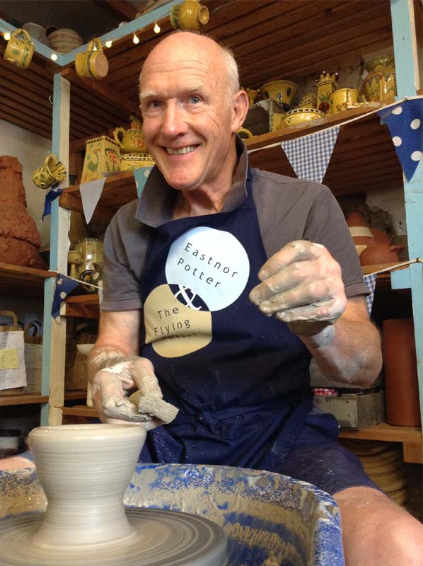 Celebration 70th Birthday by learning to throw on the Potter's Wheel at Eastnor Pottery