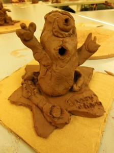 Artrix Arts Centre hosted an Eastnor Pottery workshop for children to produce terracotta film star sculptures