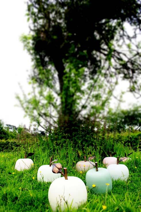 Ceramic Apples made by Jon Williams 2015