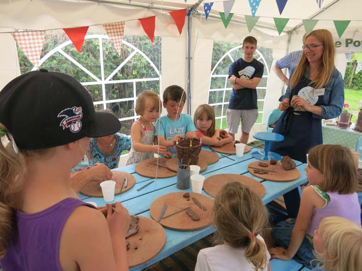Creative pottery themed birthday parties at Eastnor Pottery