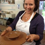 Learning great skills at Eastnor Pottery one day workshop