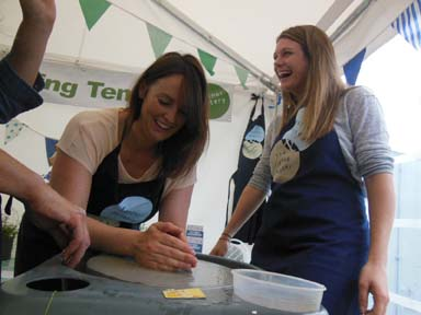 Girls choose pottery as a creative and fun hen party idea