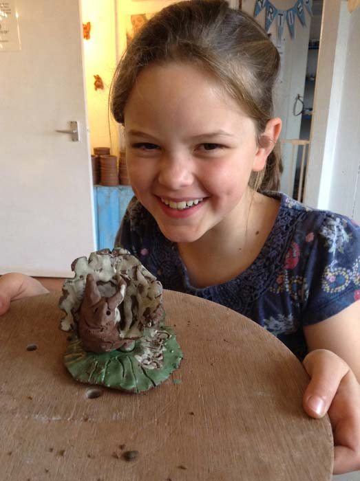 Clay Dinosaurs made at Eastnor Pottery with St. Josephs Primary School