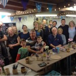 Big family groups taking to clay at Eastnor Pottery