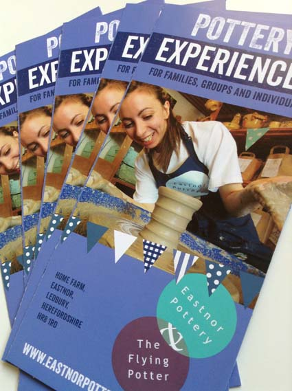 Pottery experience voucher designed by Reeves Design 2017