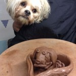 dog inspired pottery at eastnor pottery