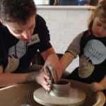 4th birthday pottery treat at Eastnor Pottery