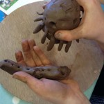 Pottery workshop with school children from Winterfold House at Eastnor Pottery