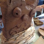Pottery art project for Worcestershire school at Eastnor Pottery Herefordshire