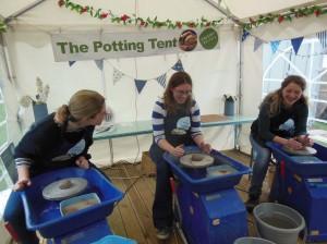 Potter's wheel hen party on the eastnor castle estate herefordshire