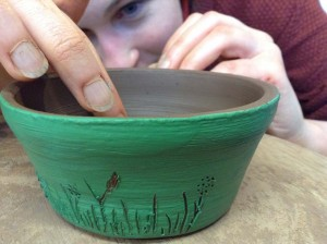 try scaffito decorative technique on herefordshire pottery course