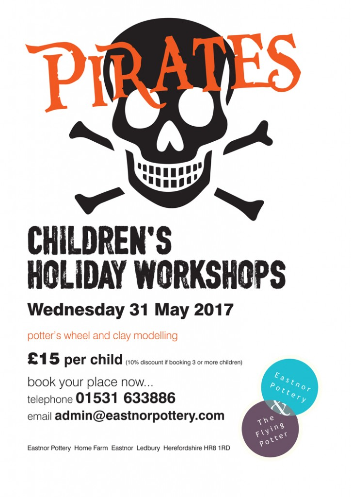 Pirate pottery fun for children in half term at Eastnor Pottery