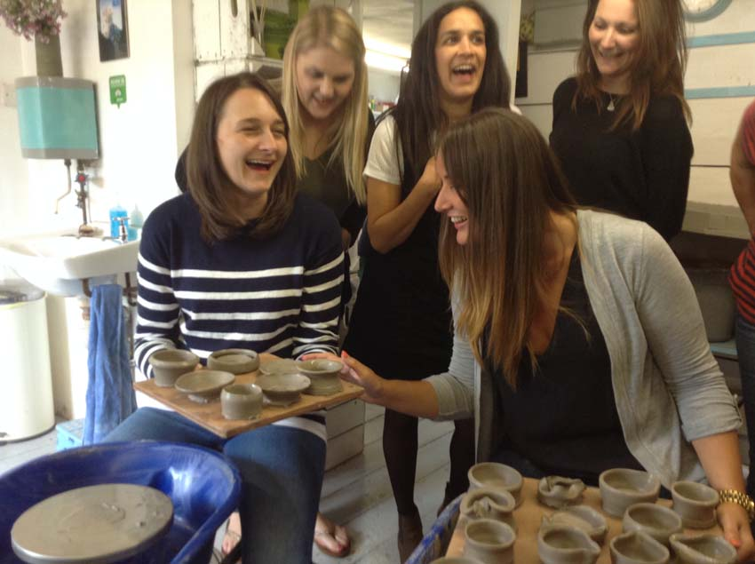 Pottery activity makes for a brilliant team building event