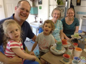 tHREE GENERATIONS OF SAME FAMILY MAKING POTTERY AT EASTNOR POTTERY