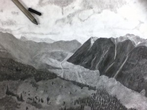 pencil landscape by Aimee Bridges