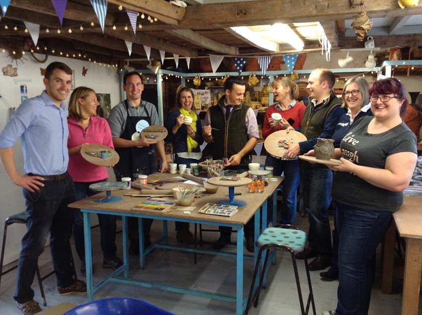 National Farmers Union take part in pottery teambuilding day in Herefordshire