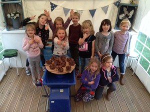 Kids birthday party at Eastnor Pottery & The Flying Potter in Herefordshire