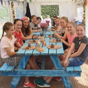 12th pottery birthday party at eastnor pottery