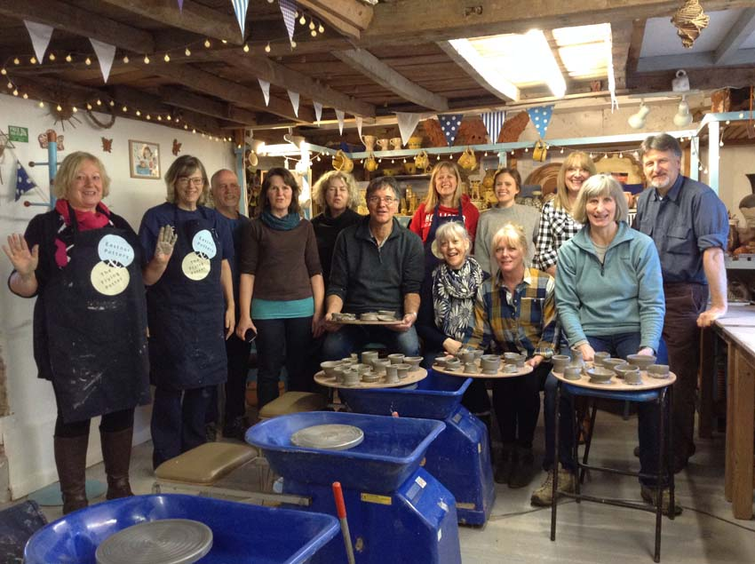 osteopaths away day at Eastnor Pottery