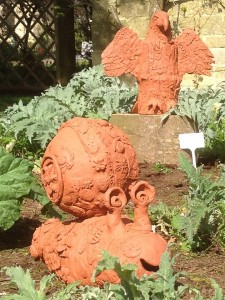 collaborative terracotta mini-beasts made by Oxfordshire primary schools