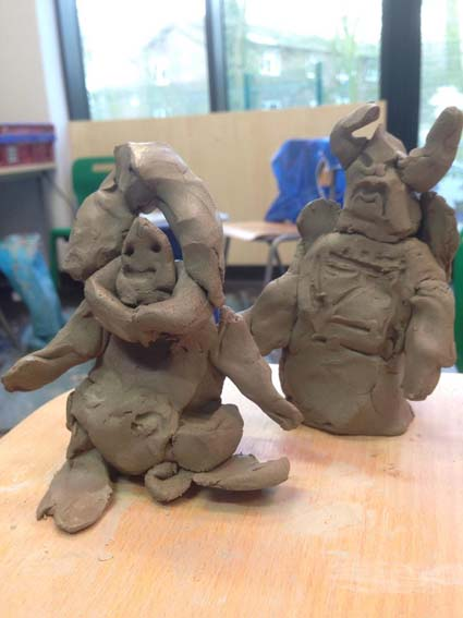 Buzz light year and zurg made by a student at Tettenhall wood school in Wolverhampton SEN