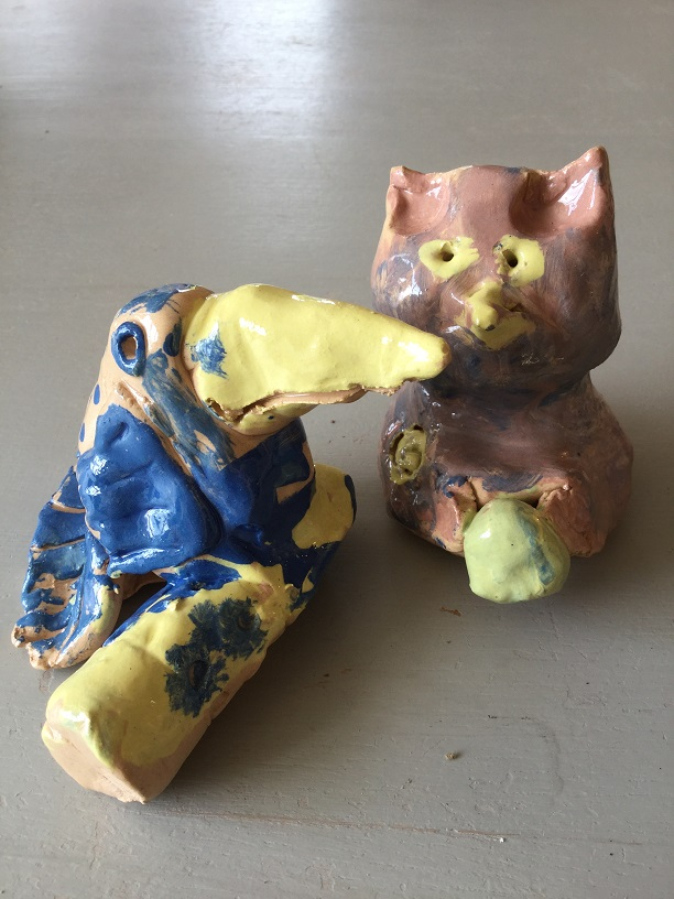 Upton upon severn primary school make clay models inspired by children's book milo and the magical stones