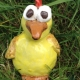 yellow pottery chicken made at eastnor pottery & the flying potter