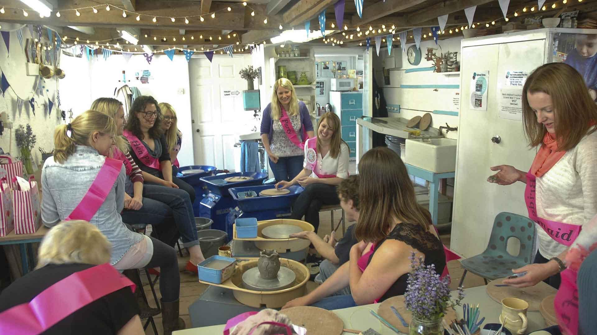 Hen Parties at Eastnor Pottery