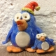 adult and baby pottery penguin made at Eastnor Pottery in herefordshire
