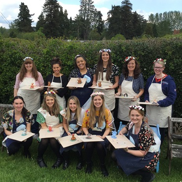 arty crafty hen party get creative with clay at eastnor pottery