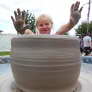pottery funwith the flying potter at Childwickbury arts festival