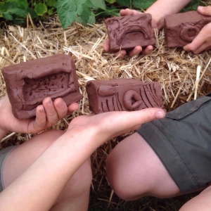clay bricks made at national trust berrington hall with jon the potter from eastnor pottery
