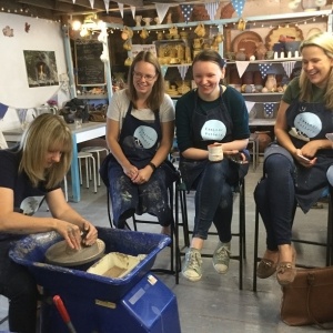 pottery team activity at eastnor pottery home of the flying potter