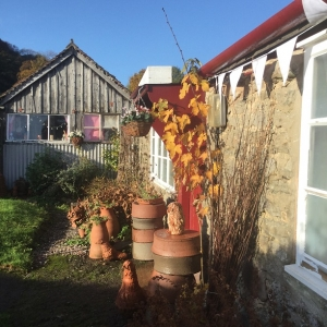 eastnor pottery in the autumnal sunshine