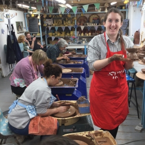 potters wheel weekend course at eastnor pottery