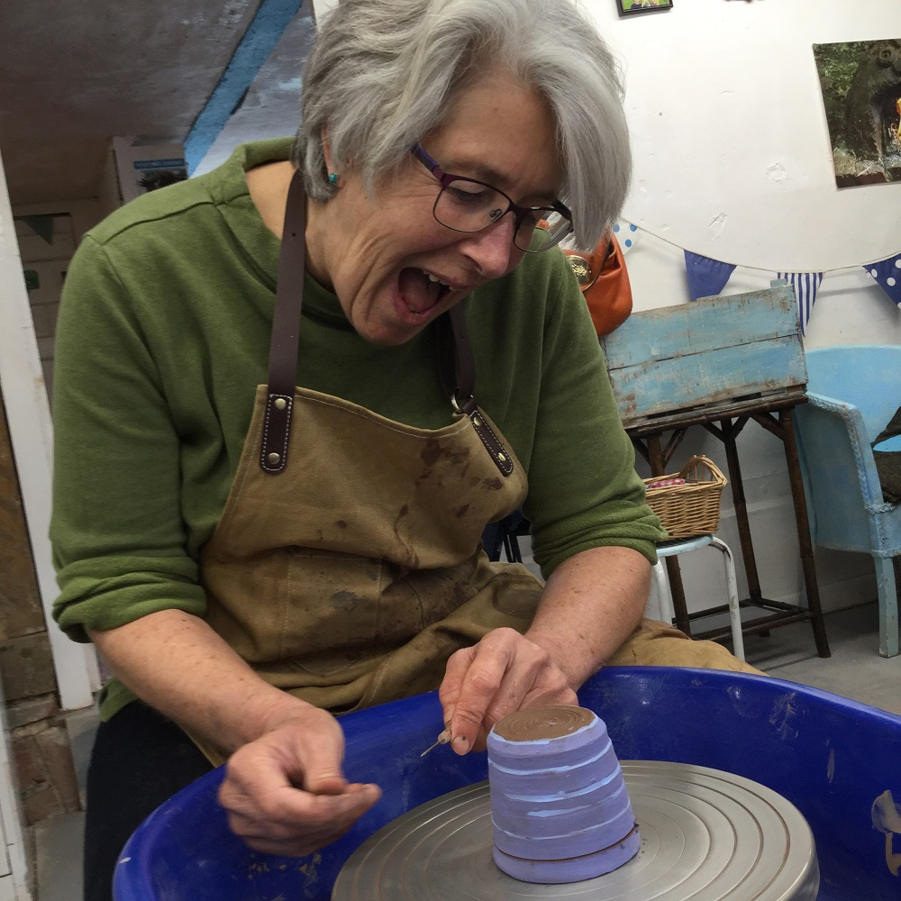 happy customer leaves a lovely review of her pottery courses at eastnor pottery