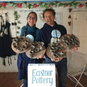 eastnor pottery owners sarah monk and jon williams getting ready to reopen after lockdown