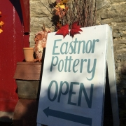 eastnor pottery open sign